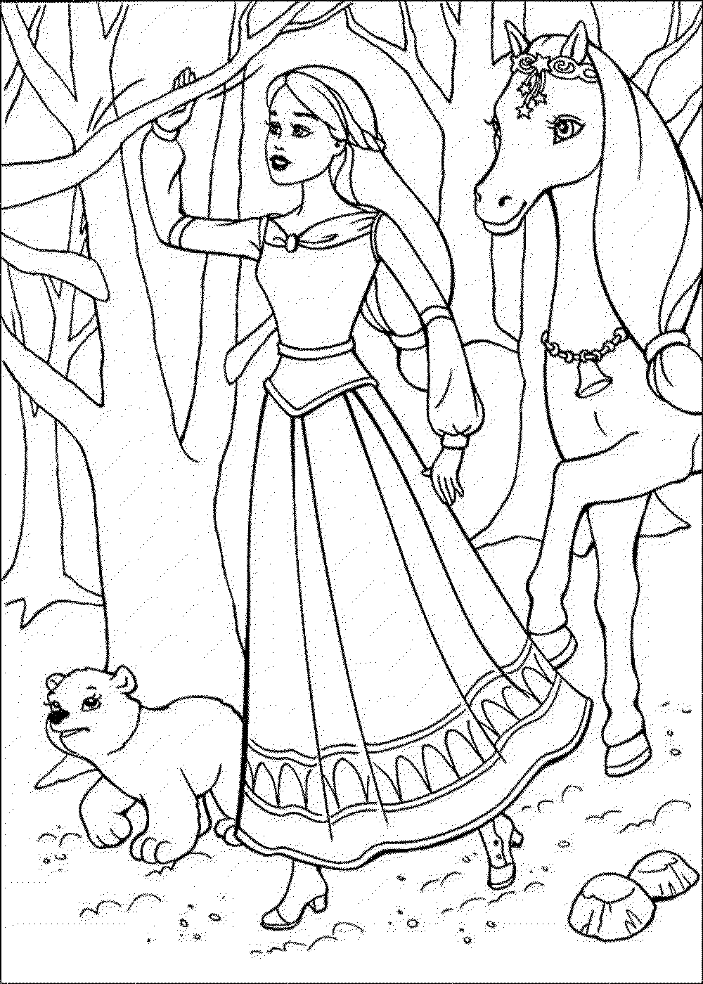 Barbie Coloring Pages App : Coloring page barbie bestappsforkids
