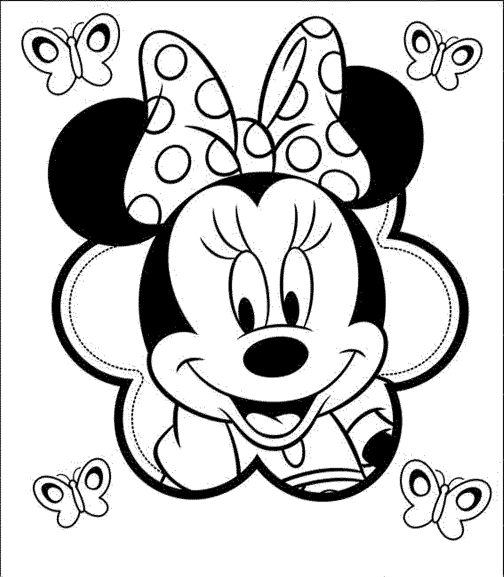 Print download free minnie mouse coloring pages for Minnie mouse color page