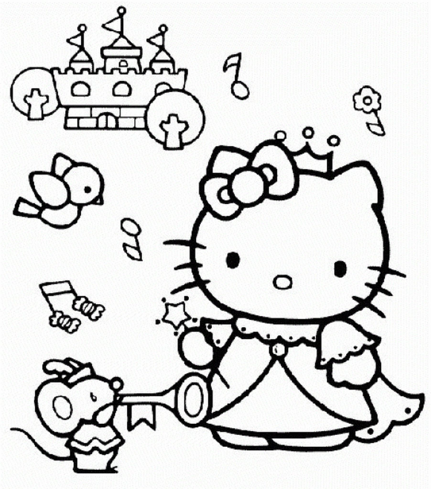 Cooking coloring pages eliolera com hello kitty cooking
