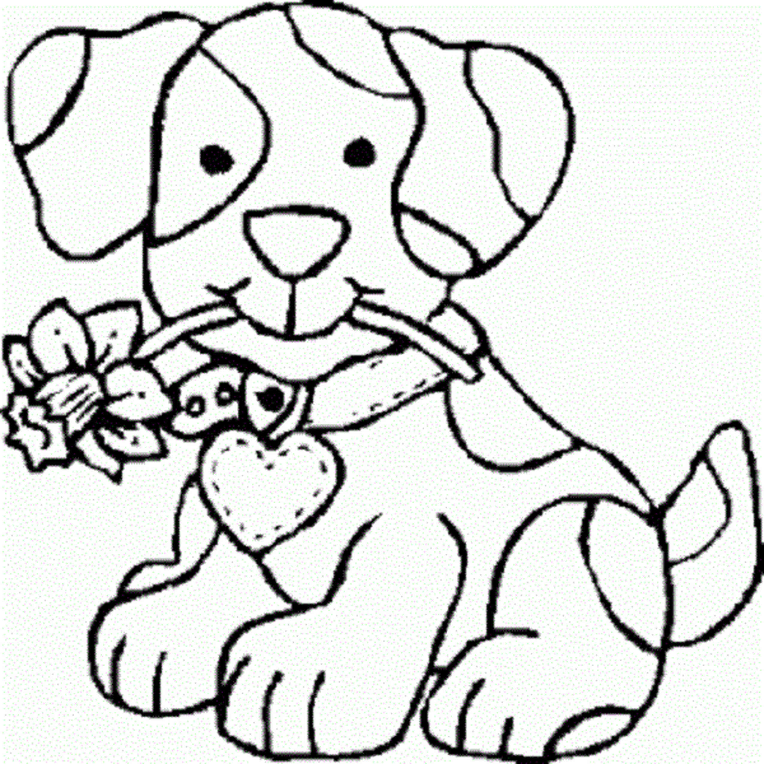 coloring pages for teenage girls dog cute - Coloring Page Girl