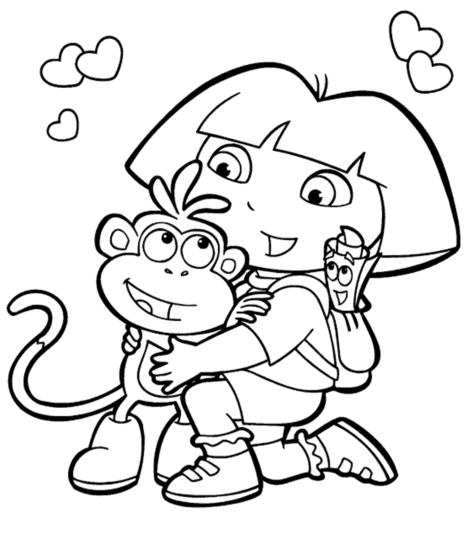 Free Printable Diego Coloring Pages For Kids | 2278x2000