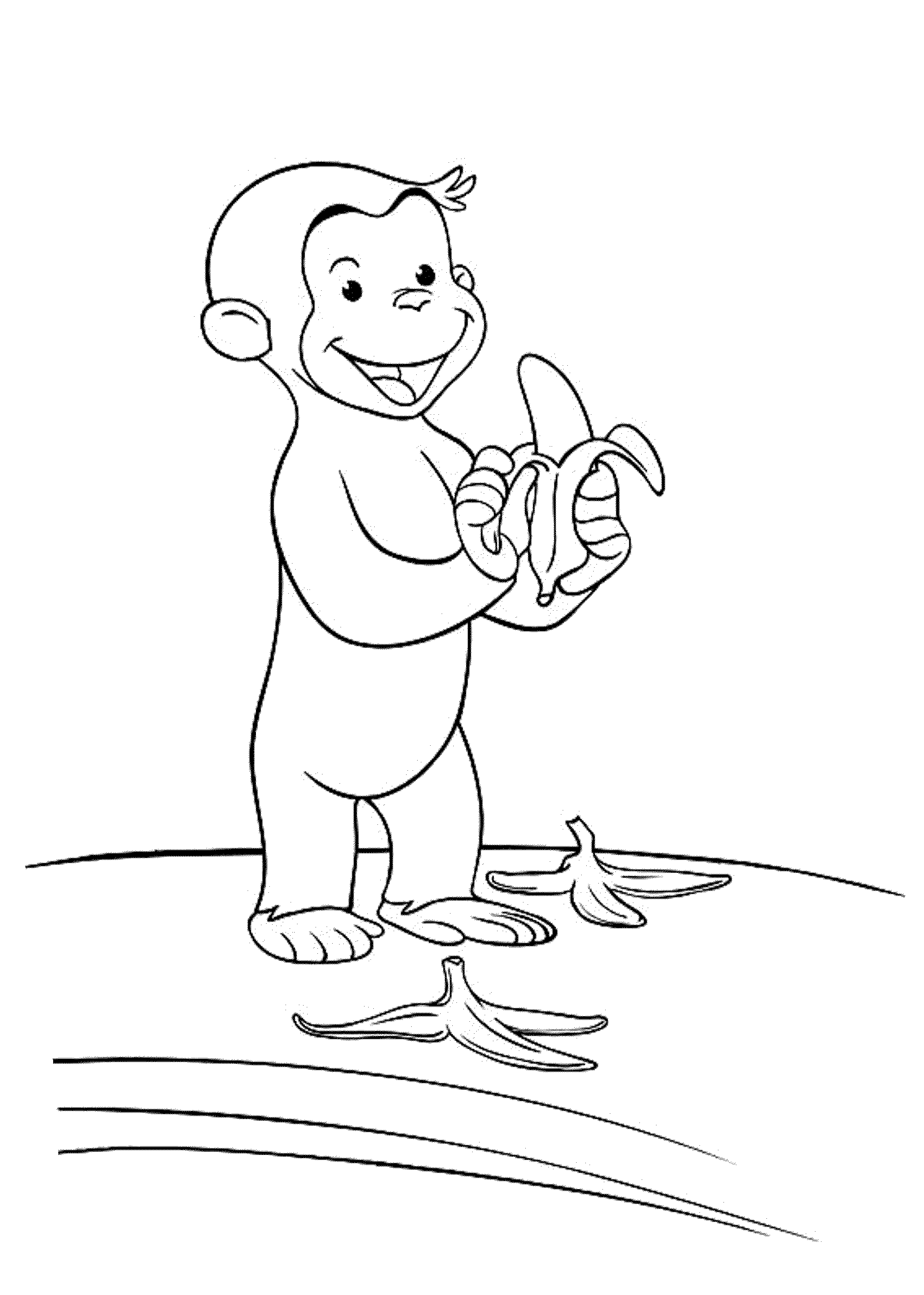 Print download curious george coloring pages to for Curious george coloring pages to print