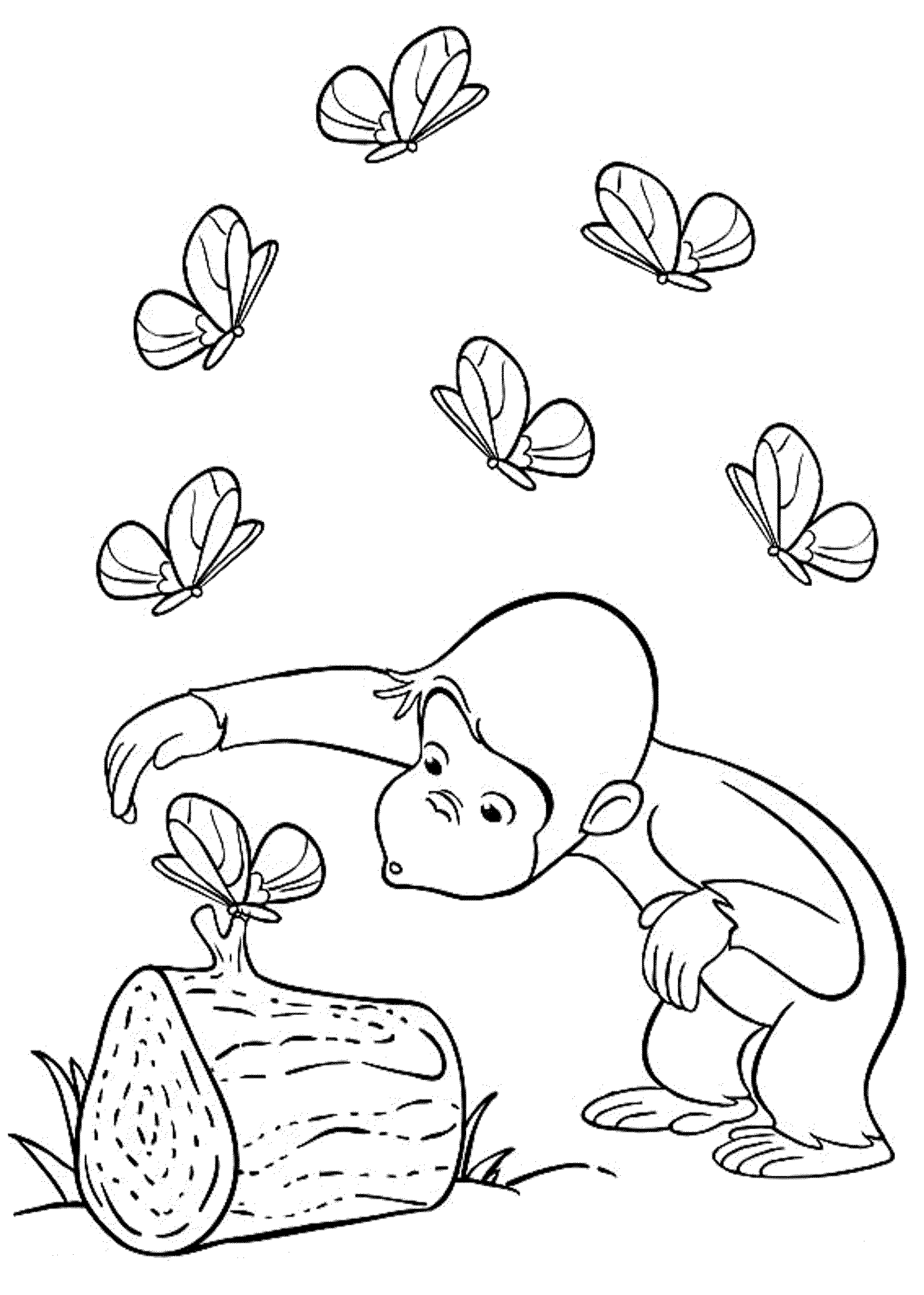 Curious Gee Coloring Pages to