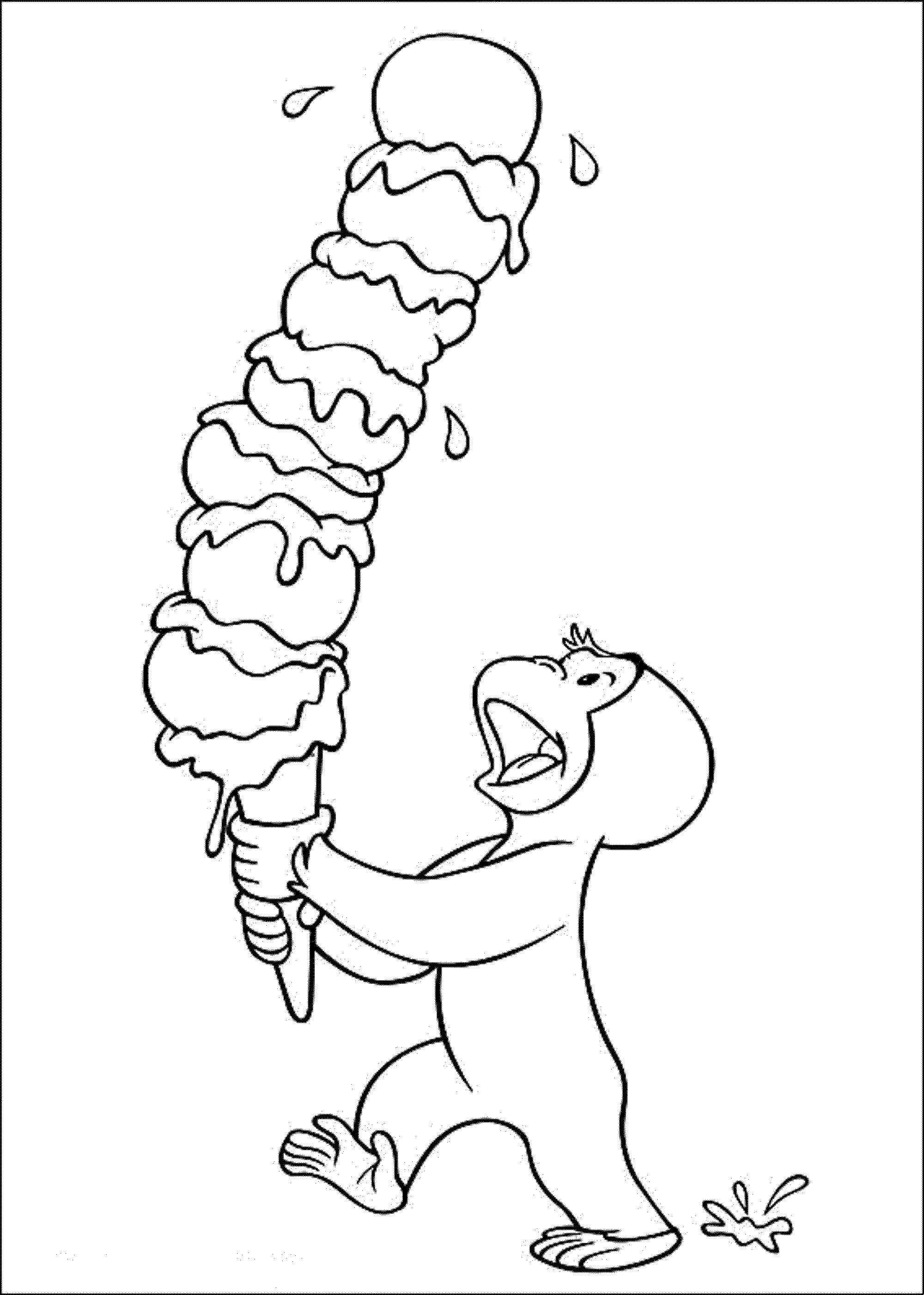 Print & Download - Curious George Coloring Pages to ...