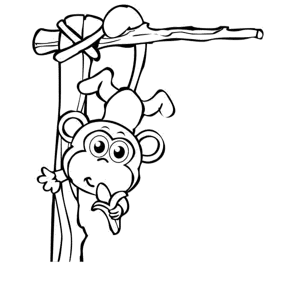cute baby monkey coloring pages - Coloring Pages Of Monkeys
