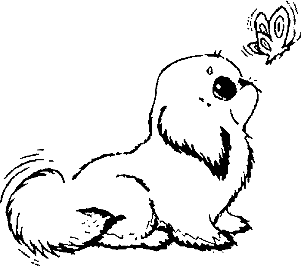 Employ dog coloring pages for your children s creative time for Coloring pages of dogs