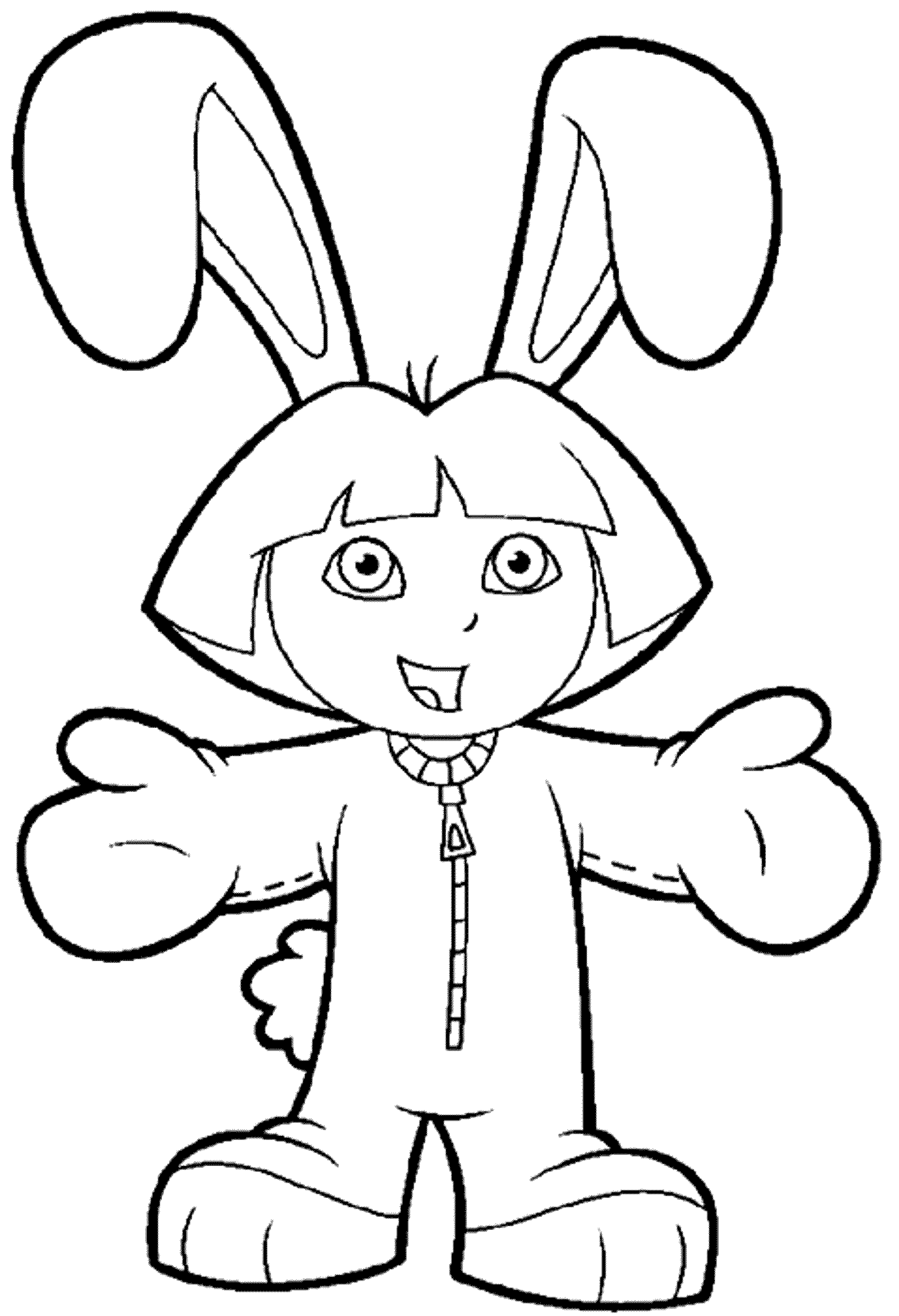 print download dora coloring pages to learn new things - Dora The Explorer Pictures To Color And Print