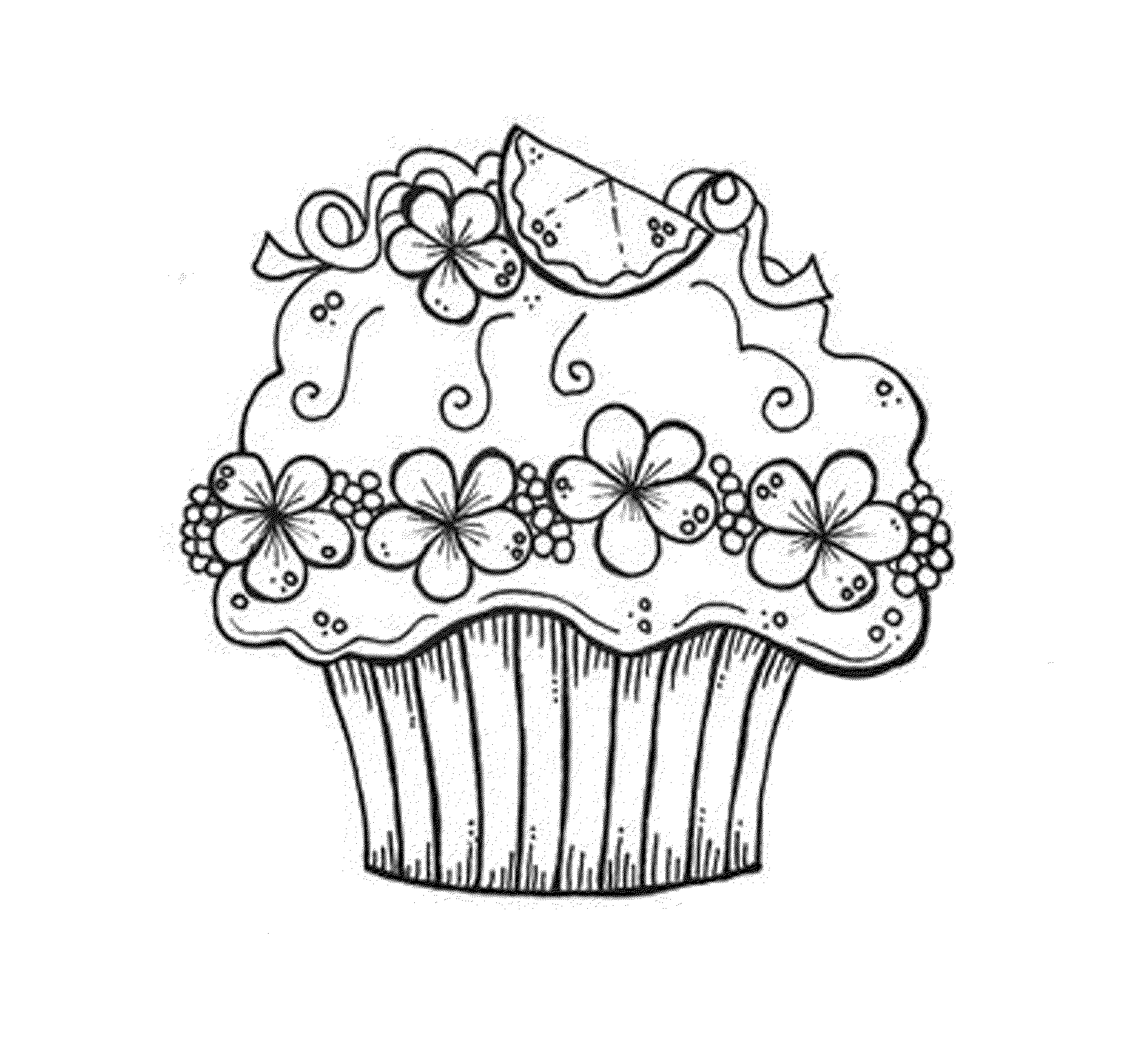 Free Cupcake Coloring Pages Printable Bestappsforkids Com