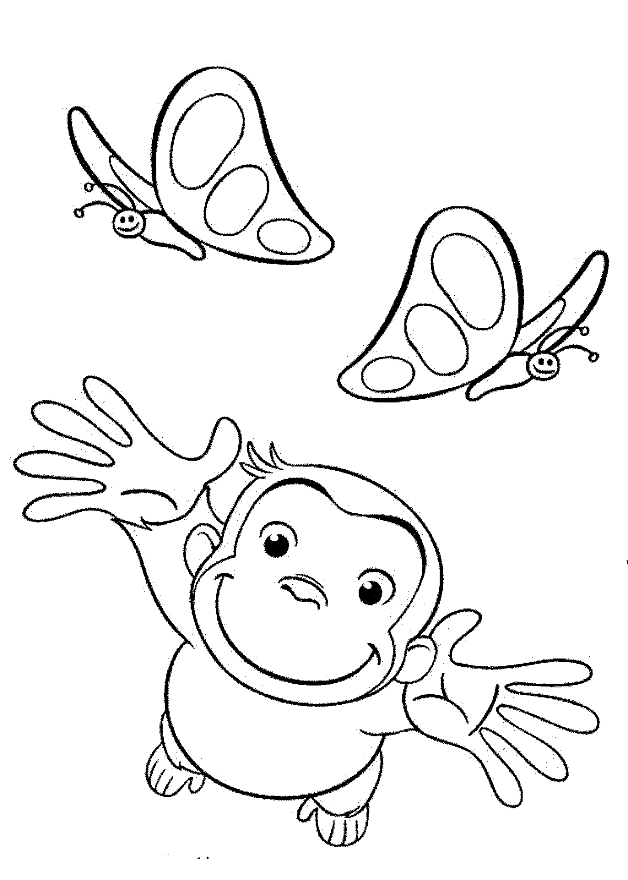 Print & Download - Curious George Coloring Pages to Stimulate Kids ...