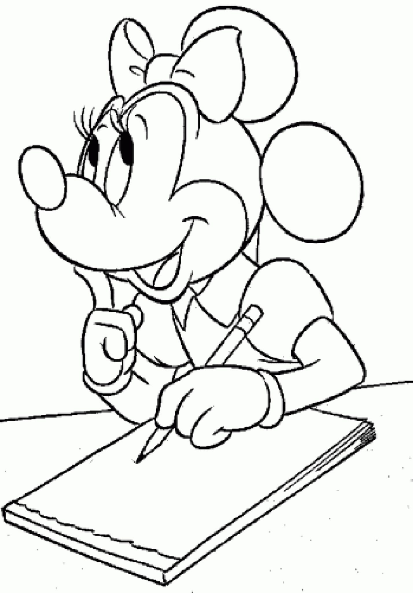 Print Download Free Minnie Mouse Coloring Pages
