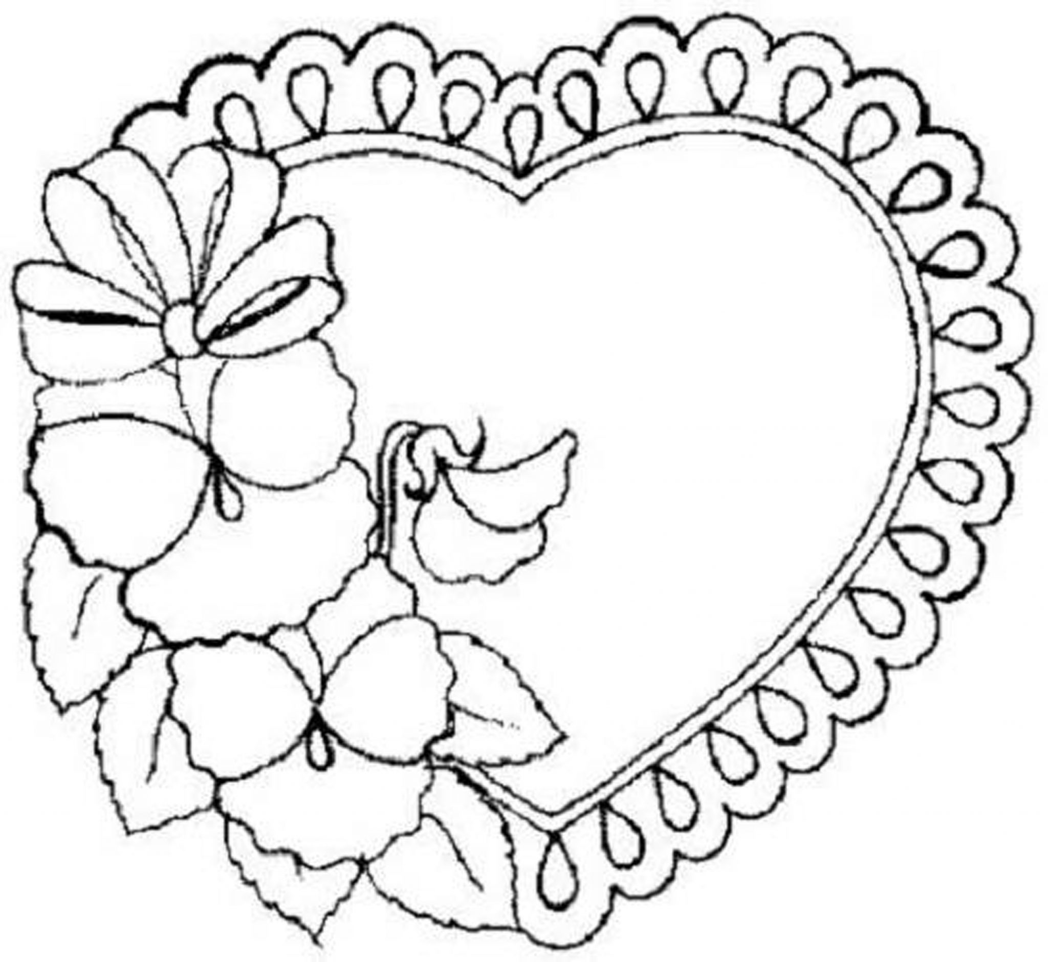 Heart Coloring Pages For Girls Eliolera