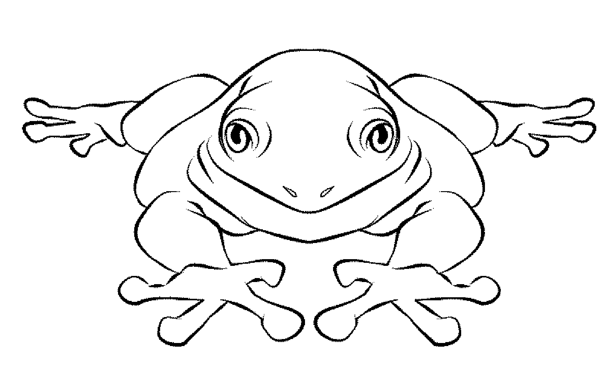 jumping frog coloring pages - Jumping Frog Coloring Page