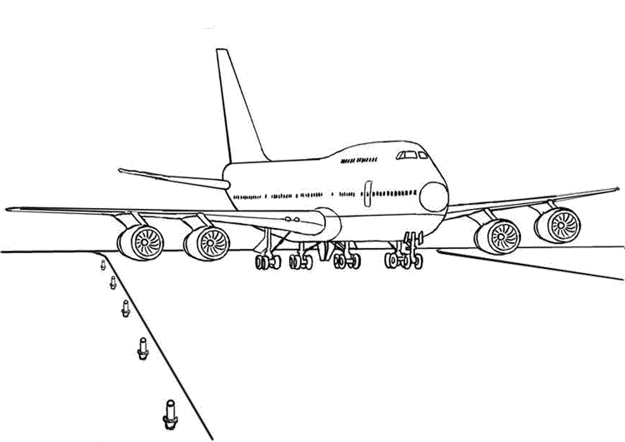 Landing of airplane coloring pages for Aeroplane coloring page