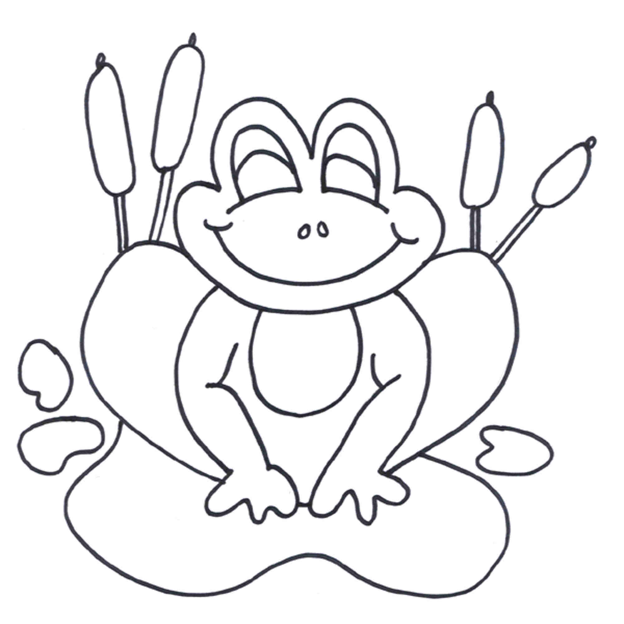 Free printable cartoon frog pictures for Free printable frog coloring pages