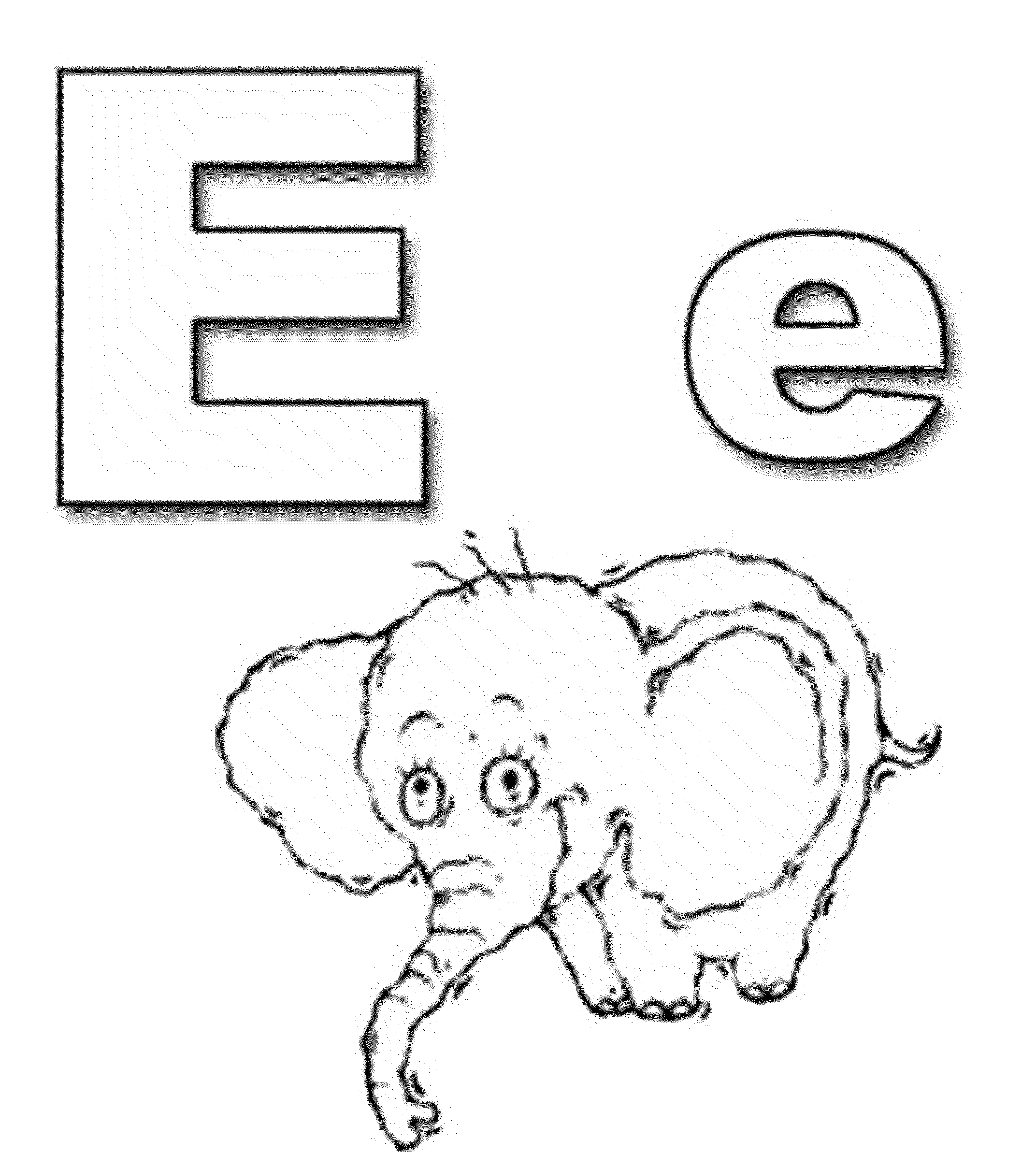 Letter E Elephant Coloring Pages | Coloring Pages