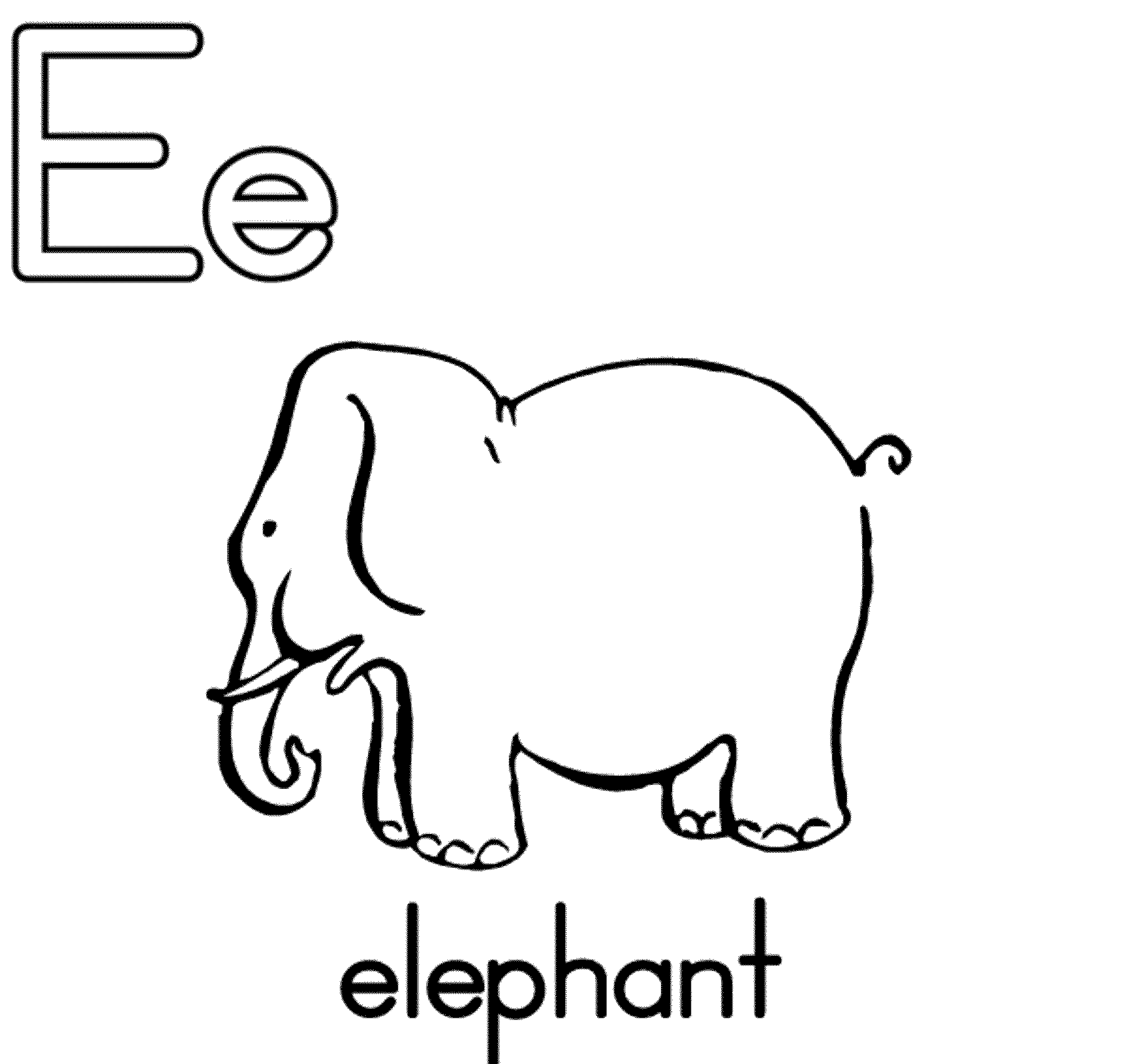 Letter e coloring pages alphabet for E coloring page
