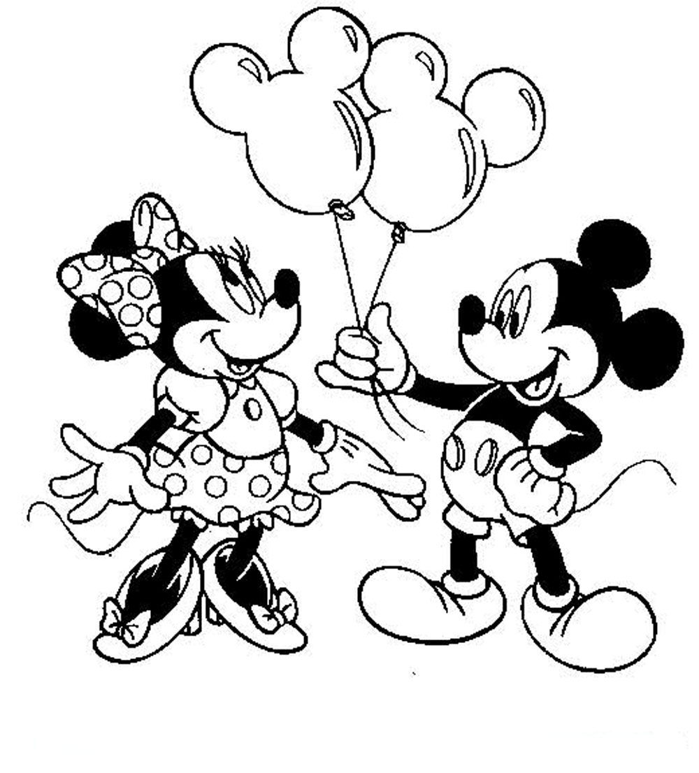 check - Minnie Mouse Birthday Color Pages