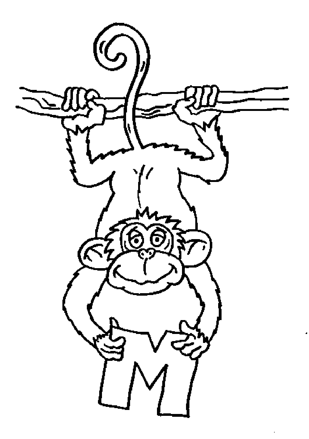 monkey-coloring-pages-printable | | BestAppsForKids.com