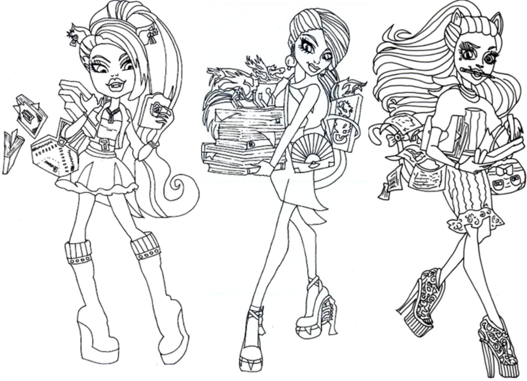 It is a photo of Crush Monster High Coloring Page
