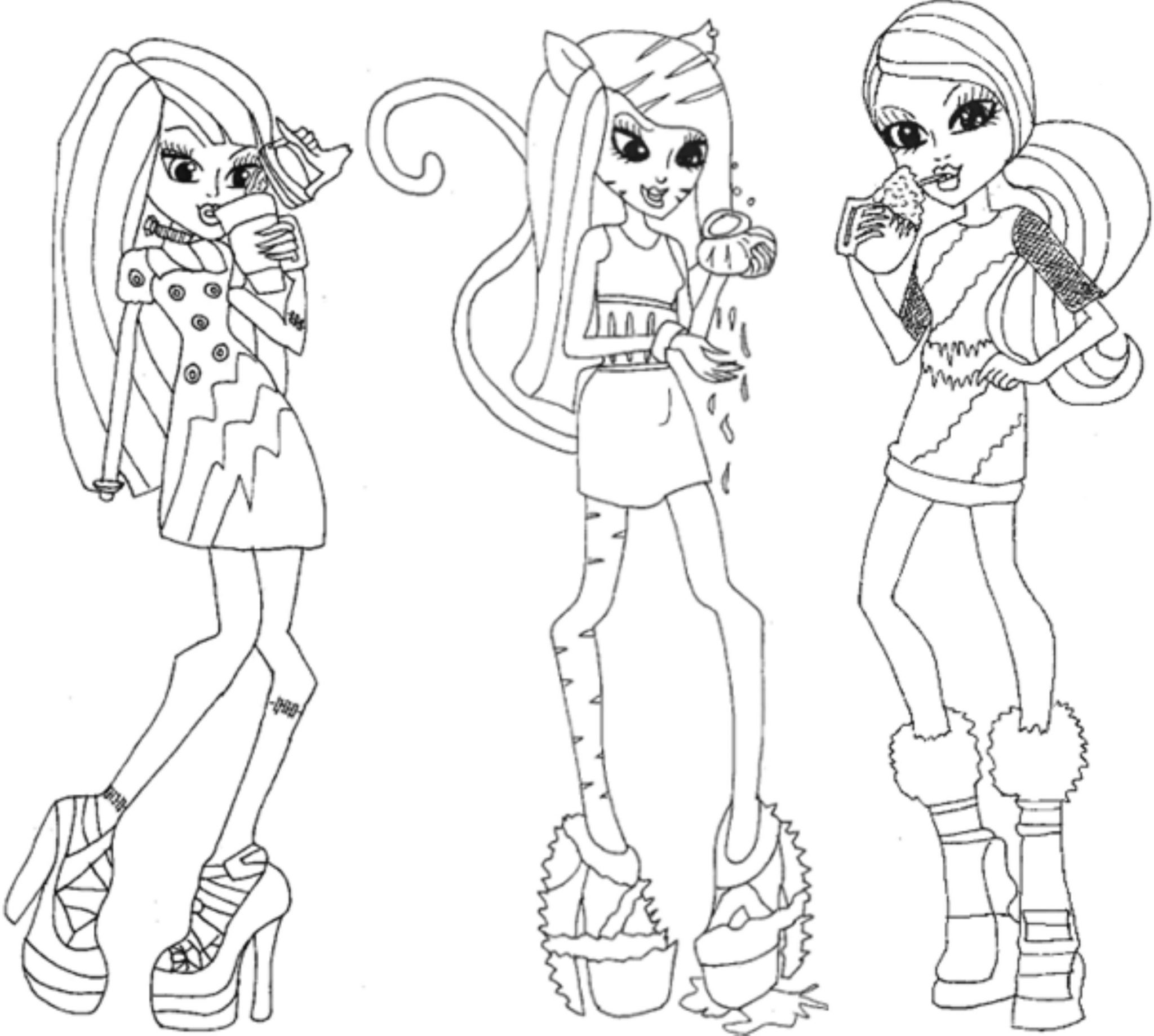 shop related products - Monster High Coloring Pages Baby
