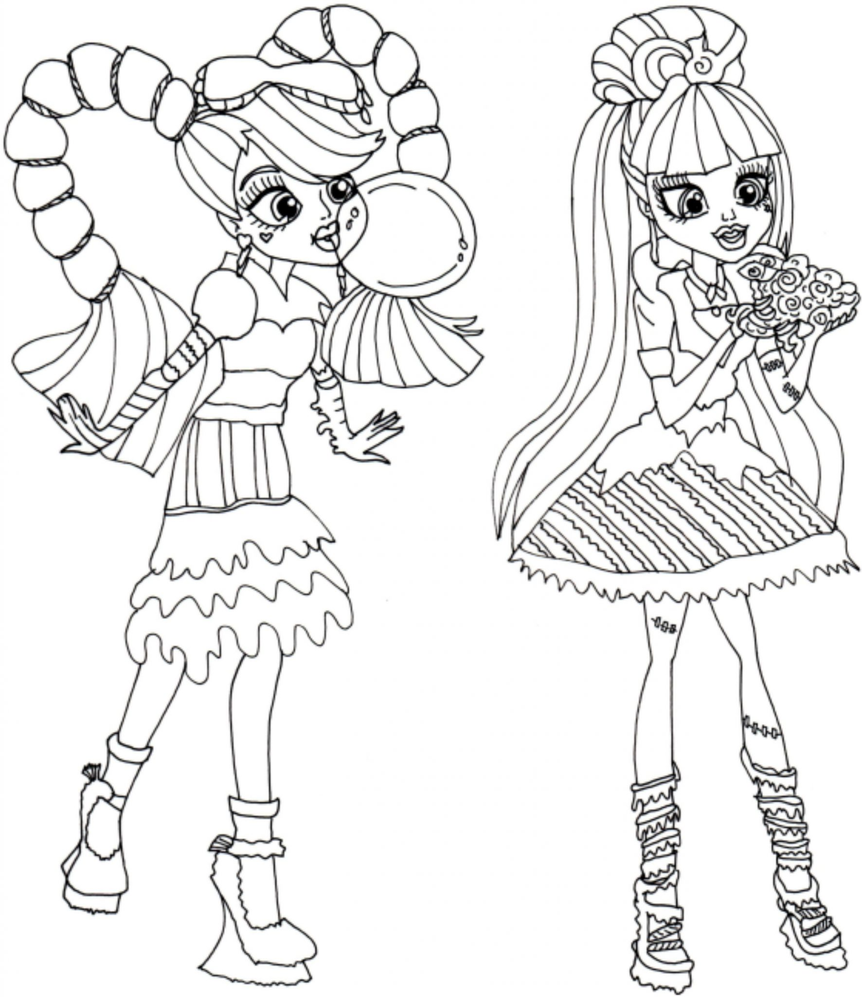 It is an image of Impeccable Free Printable Monster High Coloring Pages