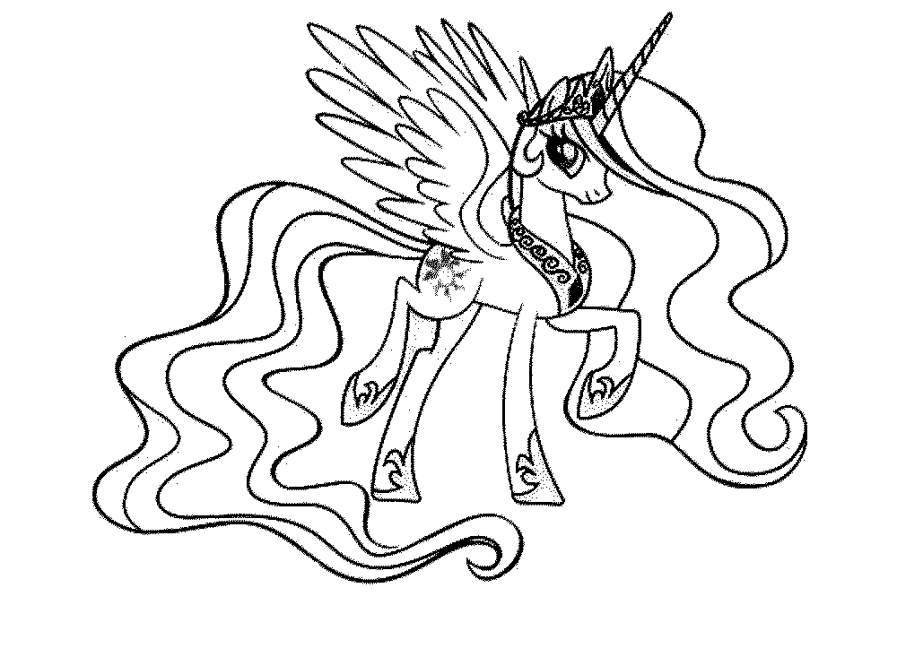 Gallery Of My Little Pony Coloring Page Coloring Home My Little