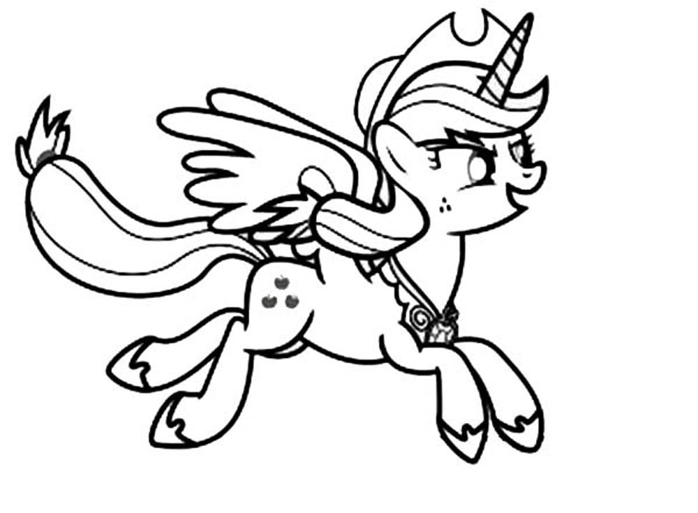 Print Download My Little Pony Coloring Pages Learning