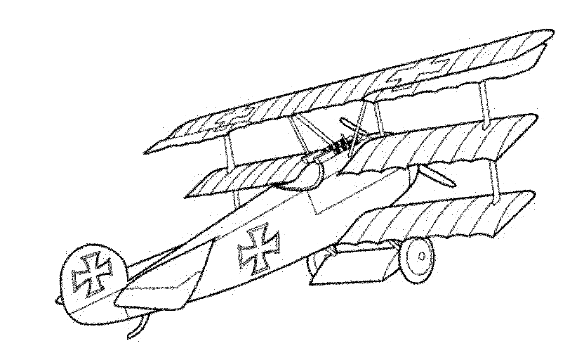 old planes coloring pages - photo#14