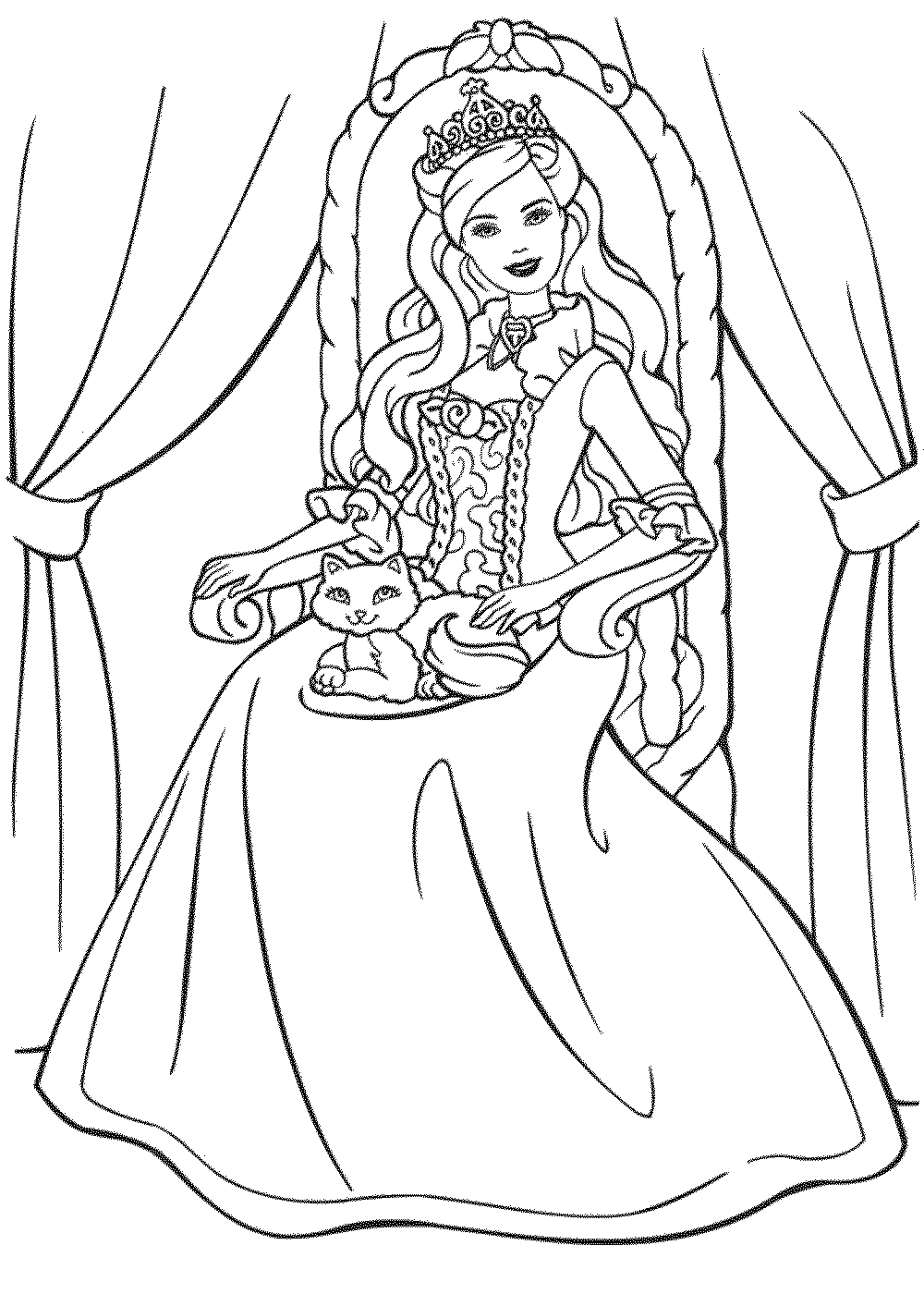Princess-barbie-coloring-pages BestAppsForKids.com