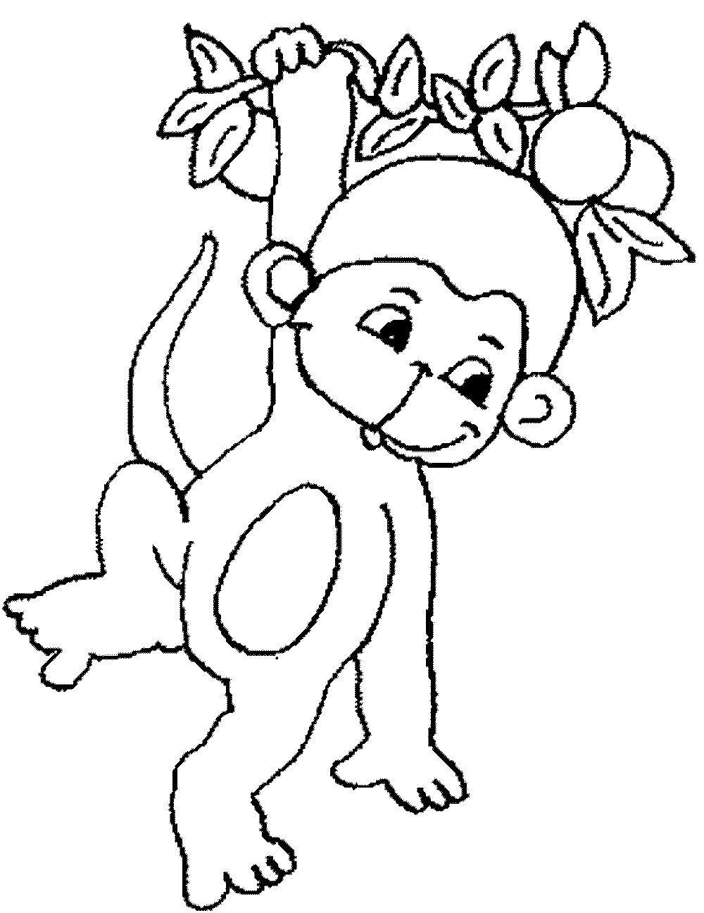 Coloring Monkey Head with Monkey