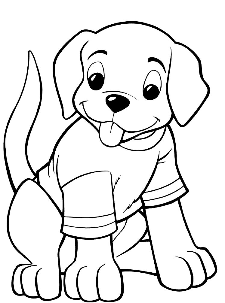 Coloring pages cute dogs puppies coloring page for Coloring pages of dogs