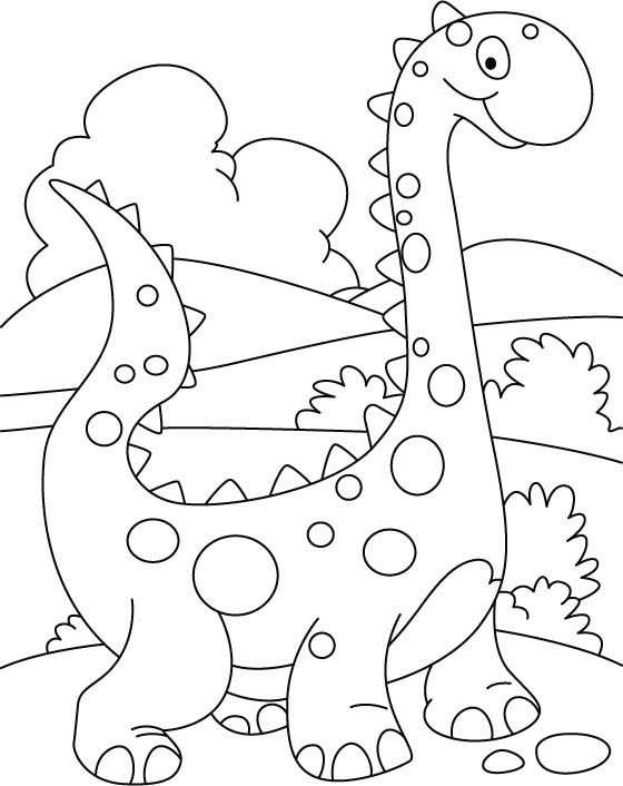 simple dinosaur coloring pages for kids. Black Bedroom Furniture Sets. Home Design Ideas