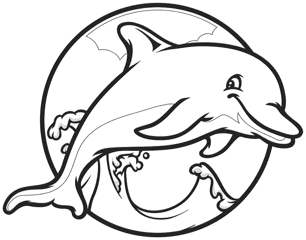 It's just a graphic of Satisfactory Dolphin Coloring Pages Printable