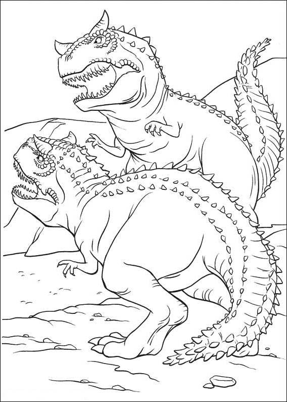 Dinosaur Coloring Pages For Kids Scary