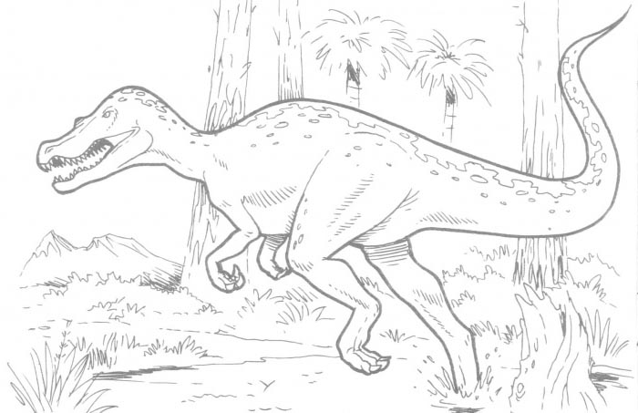 T rex dinosaur coloring pages for T rex color page
