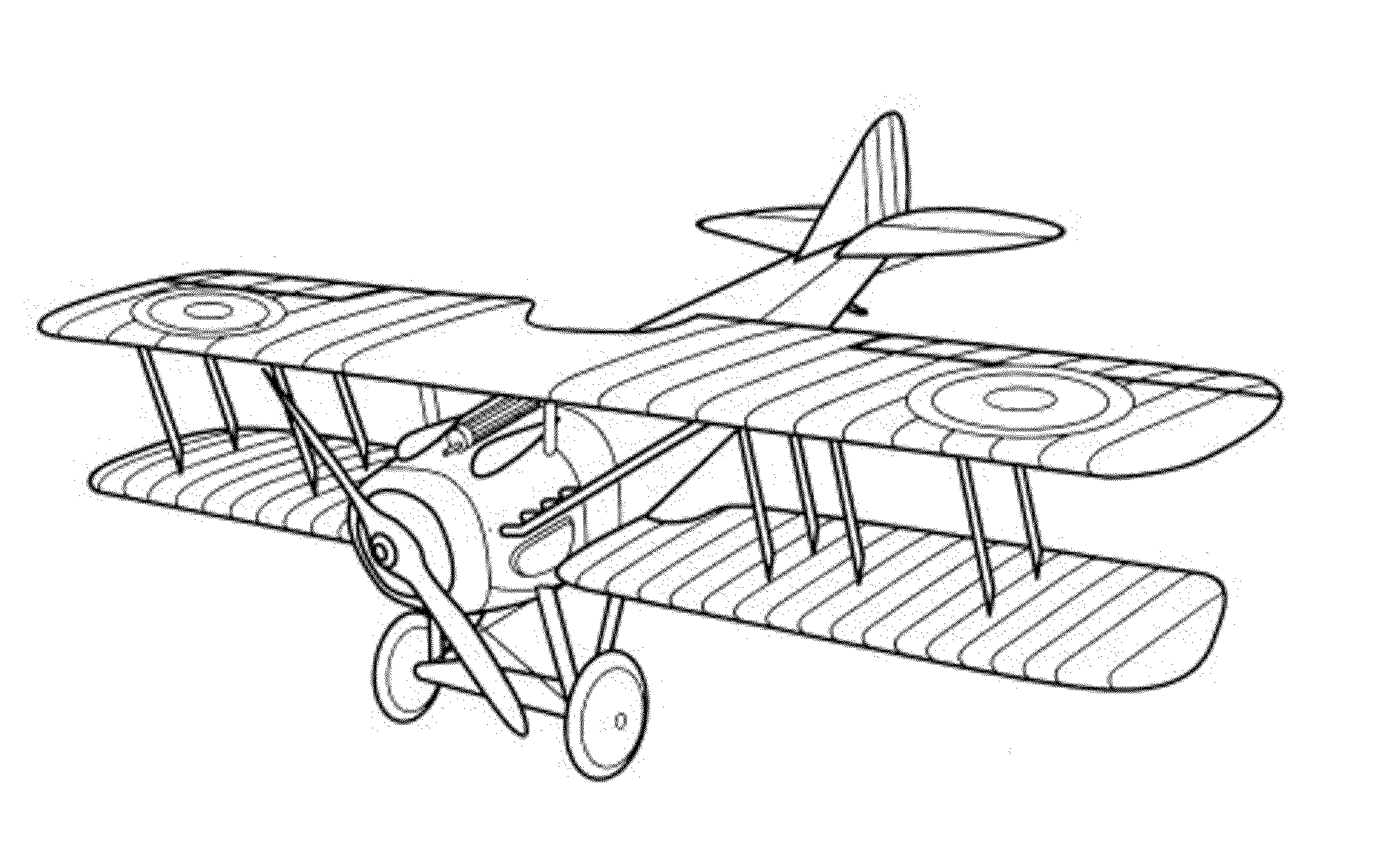 bi plane coloring pages - photo#17