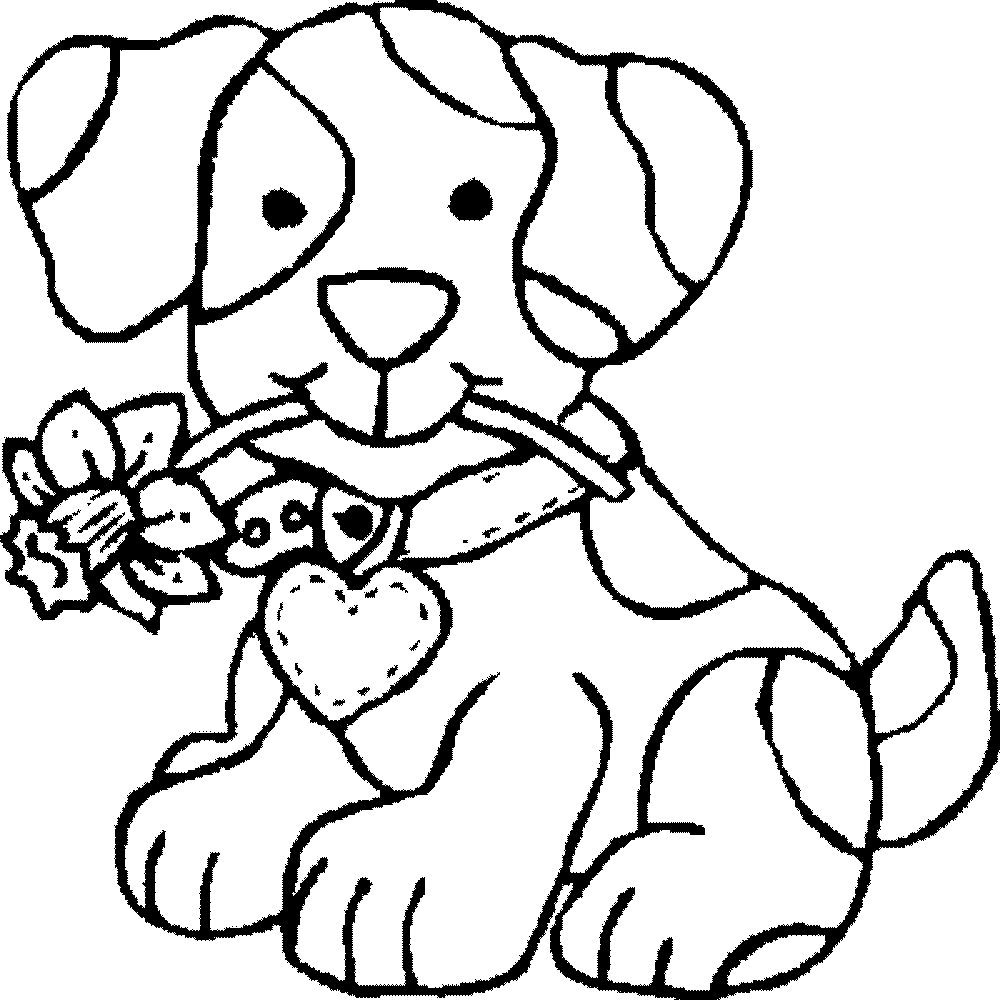 Employ Dog Coloring Pages For Your Children S Creative Time Coloring Page