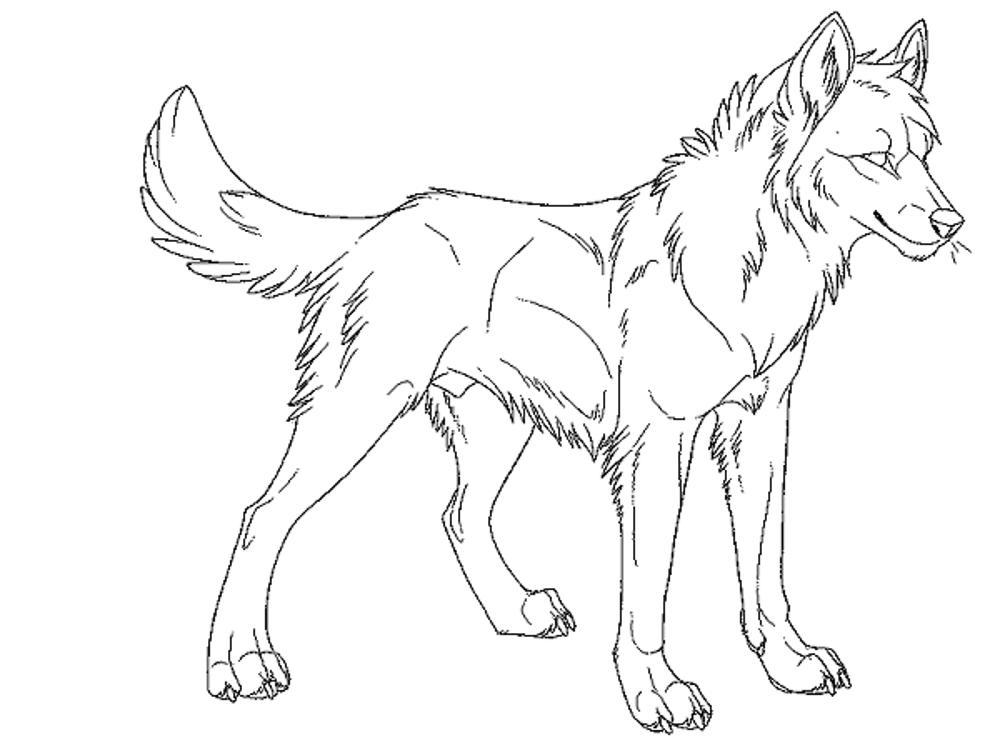 x - Wolf Coloring Pages