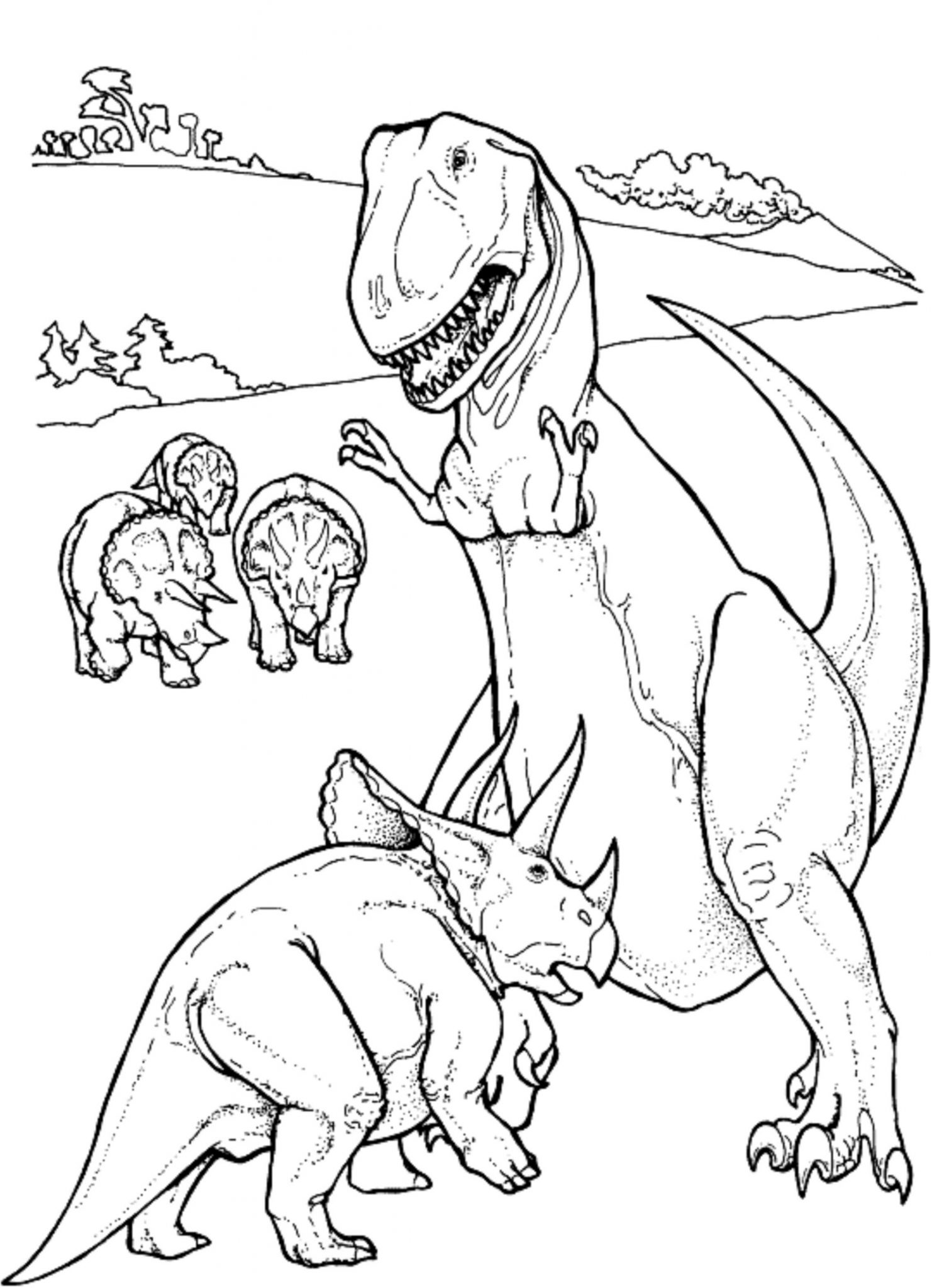 Dinosaur TRex Coloring Pages for Kids Best Apps For Kids