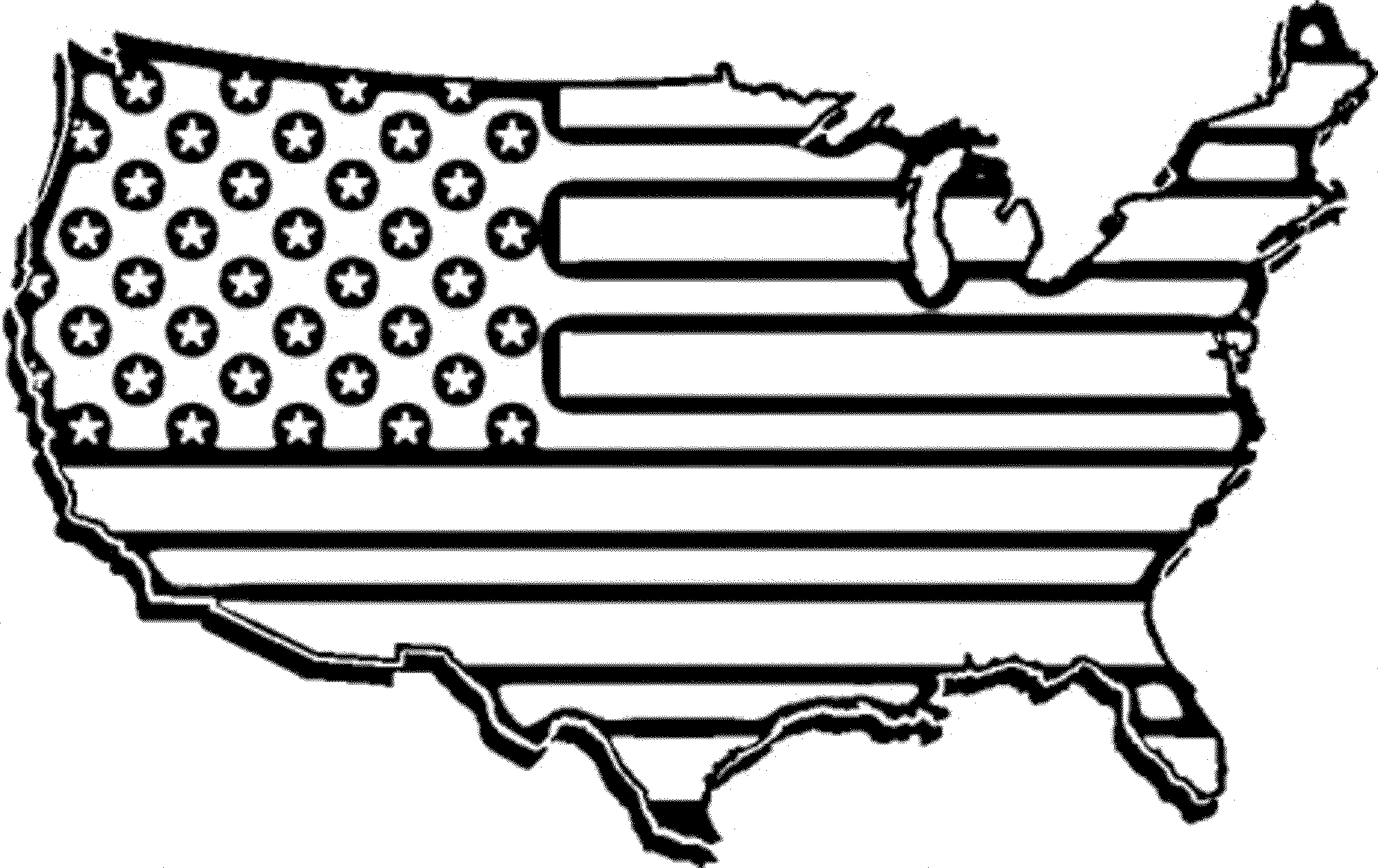 American Flag Clip Art Coloring Page