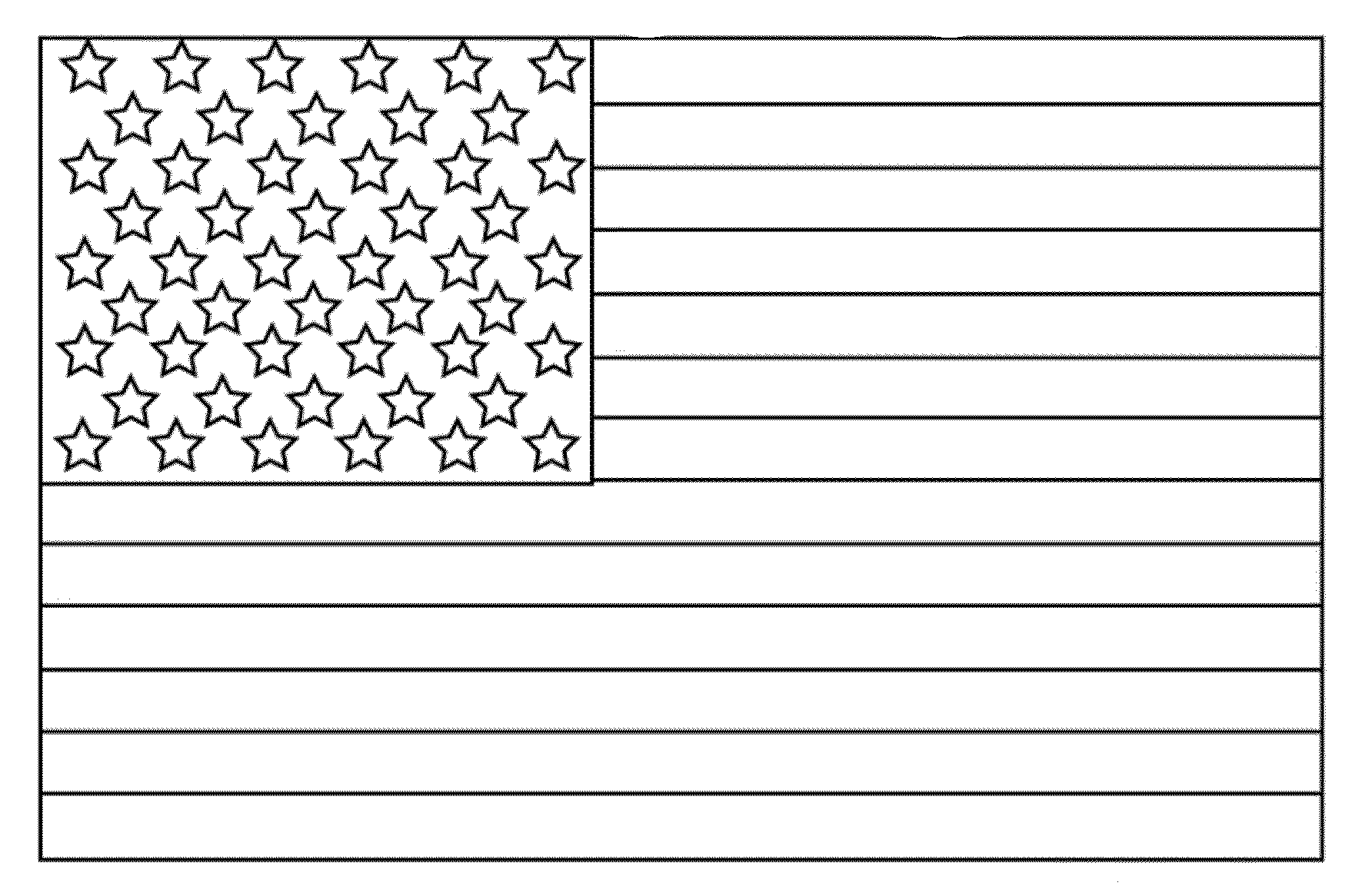 Smart image for printable american flag coloring page