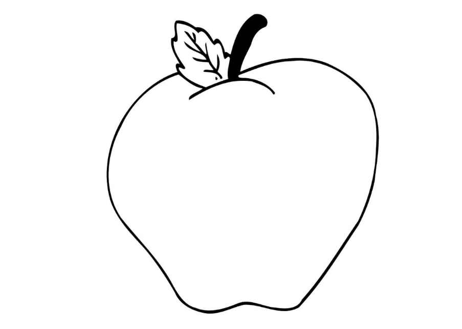 Apple Coloring Pages For Preschoolers : Print download make your kids more creative with apple