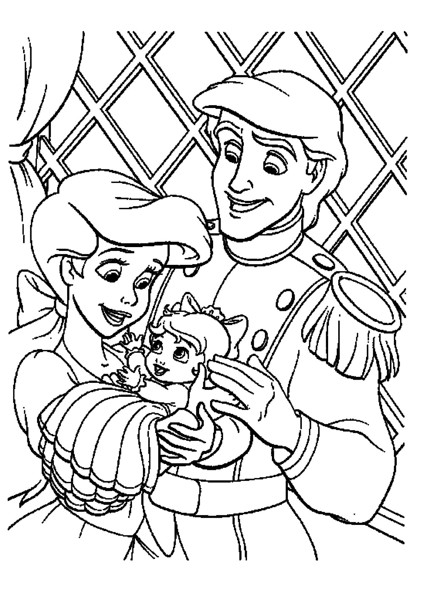 ariel little mermaid coloring pages family prince and - Mermaid Coloring Sheets