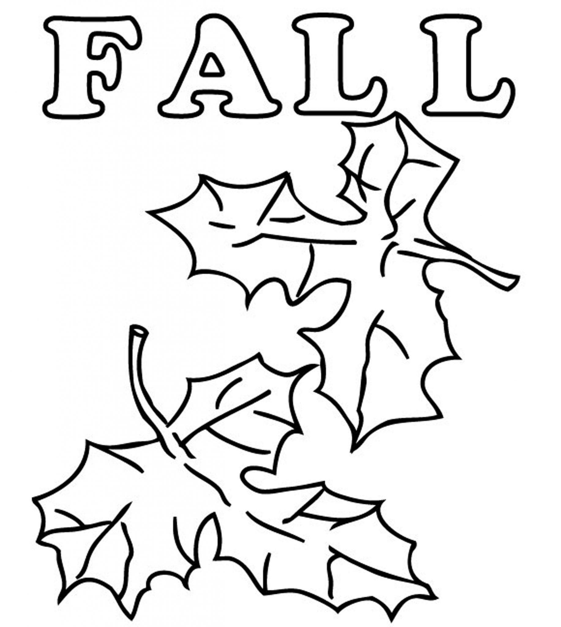 Fall Leaves and Acorn coloring page | Free Printable Coloring Pages | 2048x1833