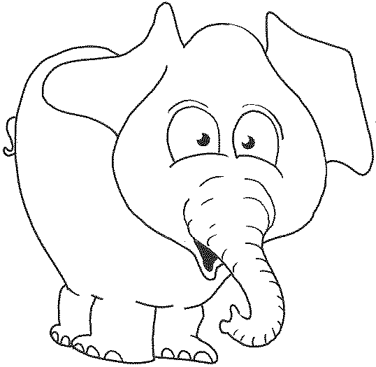 x - Baby Elephant Coloring Pages