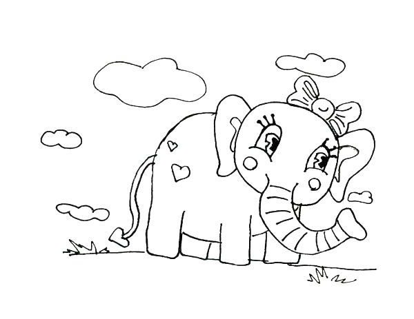 baby elephant coloring pages print - photo#28