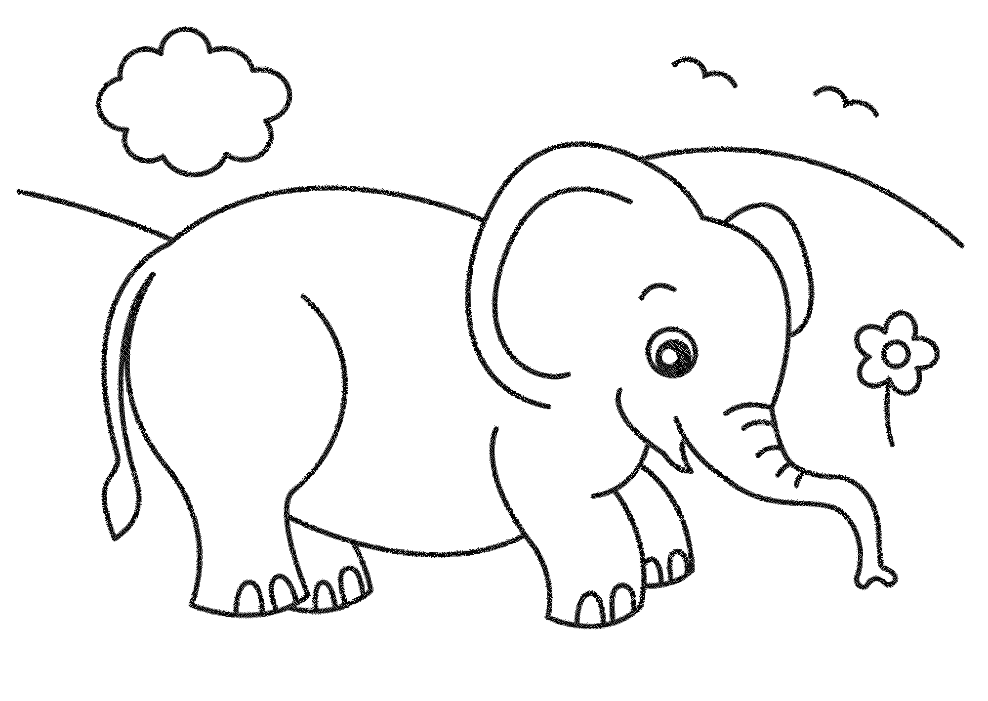Print & Download Teaching Kids through Elephant Coloring Pages