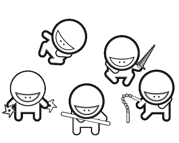 free ninja star coloring pages - photo#43