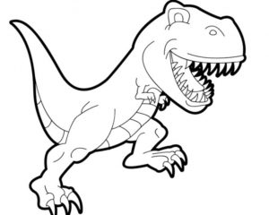 Dinosaur T-Rex Coloring Pages for Kids – Best Apps For Kids