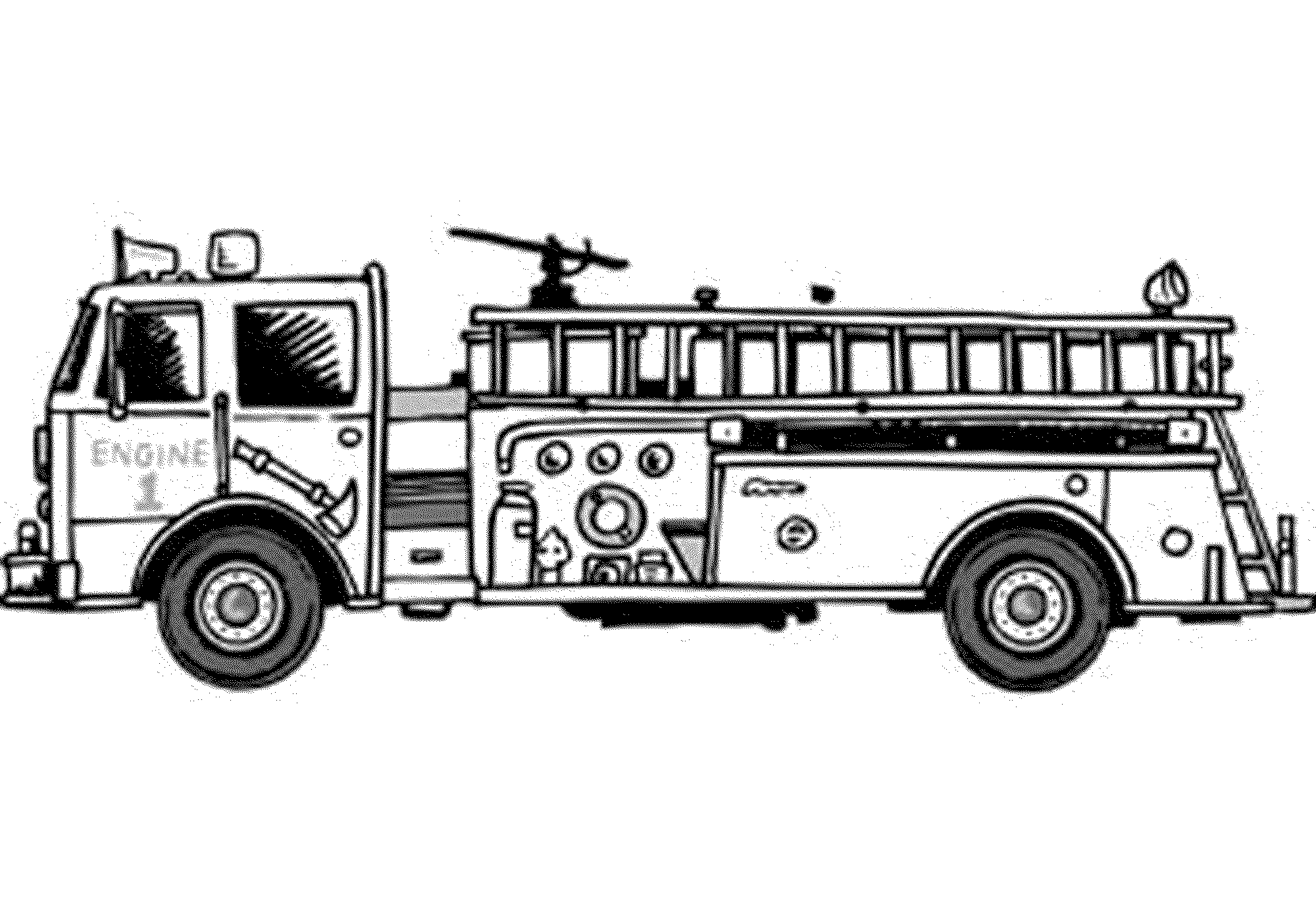 big fire truck coloring page - Coloring Pages Of Trucks